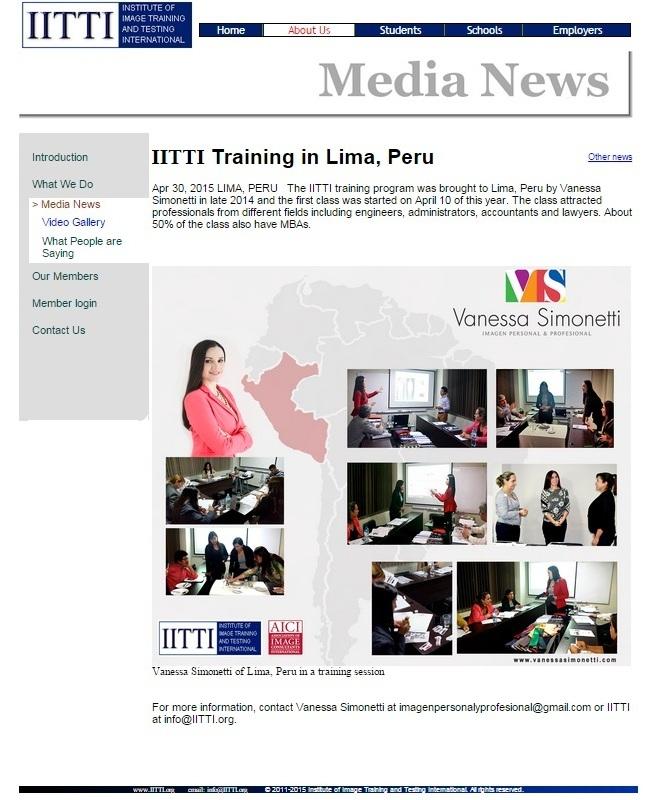 Nota en la web IITTI