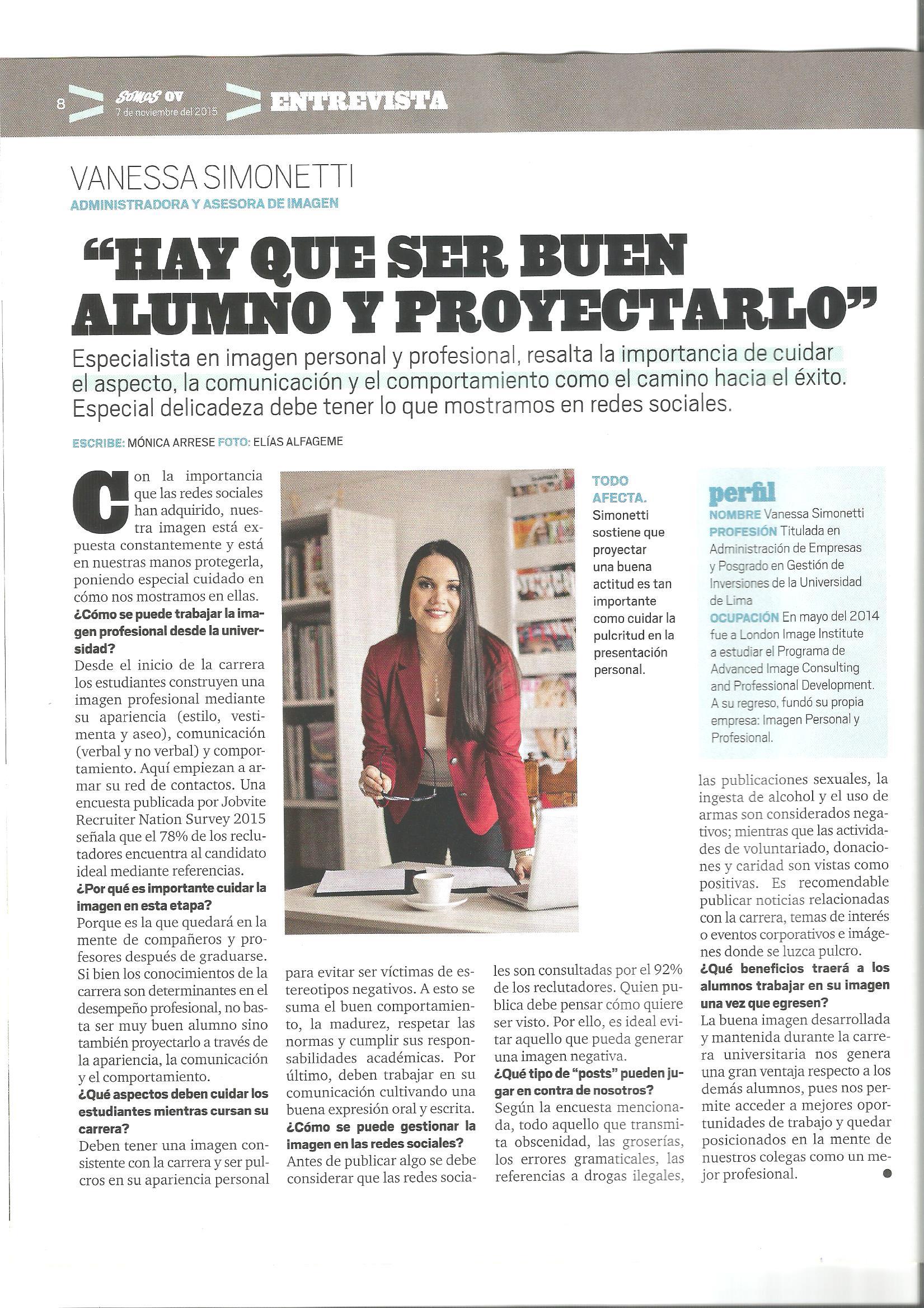 Entrevista VS - Revista Somos 07112015